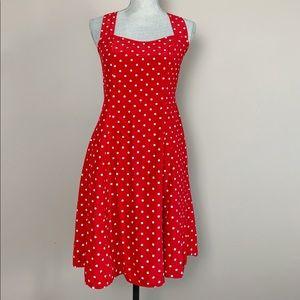 💋SALE Vintage 90s red polka dot mini dress